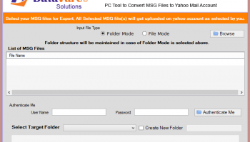 Datavare MSG to Yahoo Converter Software screenshot