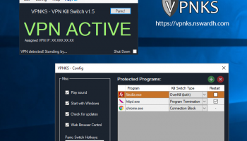 VPNKS VPN Kill Switch screenshot