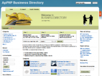 X-Light Template ApPHP BusinessDirectory screenshot