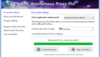 ChrisPC Anonymous Proxy Pro screenshot