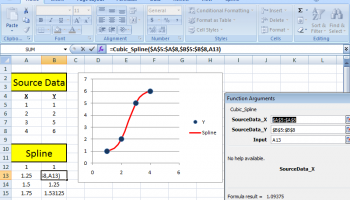 SRS1 Cubic Spline for Excel screenshot