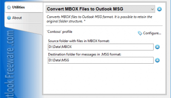 Convert MBOX Files to Outlook MSG screenshot