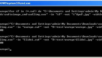 SWF to PNG Converter Command Line screenshot
