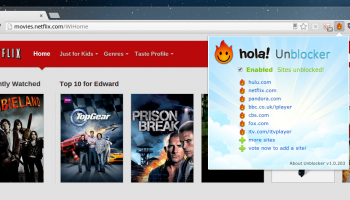 Hola Unblocker for Chrome screenshot