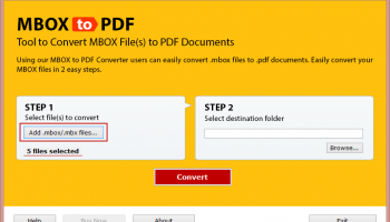 MBOX email to PDF Converter screenshot