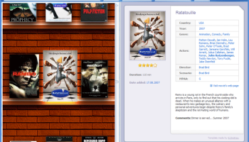 Movie Library Software screenshot