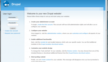 BitNami Drupal Stack screenshot
