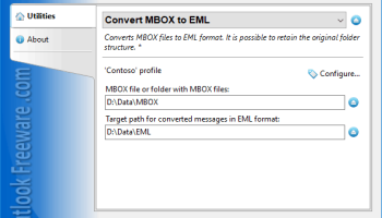 Convert MBOX to EML Files for Outlook screenshot