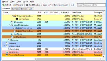Portable Process Hacker screenshot