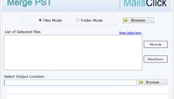MailsClick Merge PST File screenshot