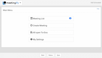 Meetingify Agenda Organizer screenshot