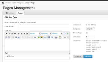CMS Module for Directy CMF screenshot