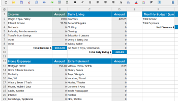 SSuite Basic-Math Spreadsheet screenshot