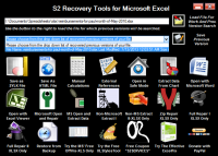 S2 Recovery Tools for Microsoft Excel screenshot