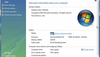 Windows Vista Service Pack 2 SP2 64-bit x64 screenshot