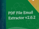 PDF File Email Extractor
