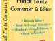 Hindi Fonts Converter and Editor
