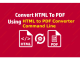 VeryUtils HTML to PDF Converter Command Line